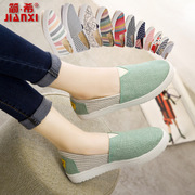 Jane Xi Han old Beijing shoes female spring and summer thick foot kick lazy shoes breathable flat sole shoes canvas shoes
