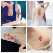 Tattoo stickers waterproof long lasting female large flower rose photo studio cover scar tattoo stickers a 6