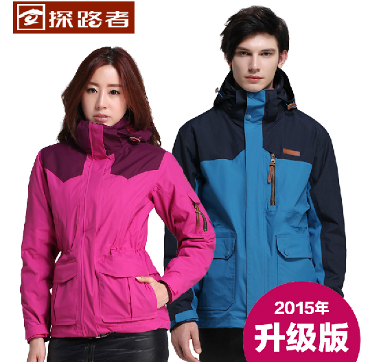 Pathfinder autumn and winter jackets men and women couples waterproof jacket cashmere jacket TAWB91201 TAWB92214
