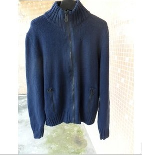 Men's knitting thick wool, casual wool sweater, jacket IDEAL zipper