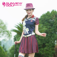 SVG is about women's golf apparel printing new autumn dress