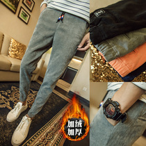 9 mens corduroy pants in autumn and winter plus velvet padded beam pants feet pants plus size collection foot tide mens