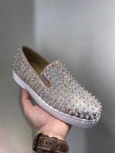 Purchasing genuine domestic spot CL new Christian Louboutin pearl nail shoes casual shoes
