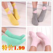 A special offer of spring and summer cotton socks MS cylinder thin solid deodorant socks wholesale shipping lattice
