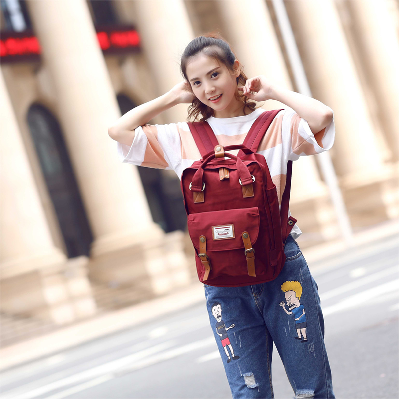 Doughnut donuts han edition rucksack backpack female college wind bag bag male and female high school students