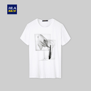 HLA/ sea orchid home ink printing short sleeved T-shirt 2017 new summer t-shirt t-shirt