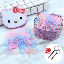 Childrens hair accessories little girl headdress baby tie hair ring Korea head rope color rubber band does not hurt the hair