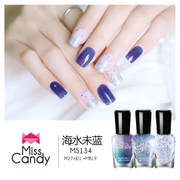Miss Candy health refers to the color of nail polish can be stripped of the long range of non toxic tear with the same color gradient 7ml*3 sets