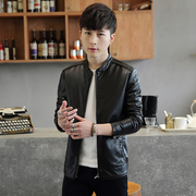 Jacket 2017 spring and Autumn period of the new Korean version of the young men's handsome handsome casual men's coat leather fashion trend