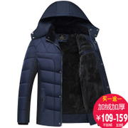 Father put the elderly men's coat with velvet cotton thickened winter winter in cotton with middle-aged man father