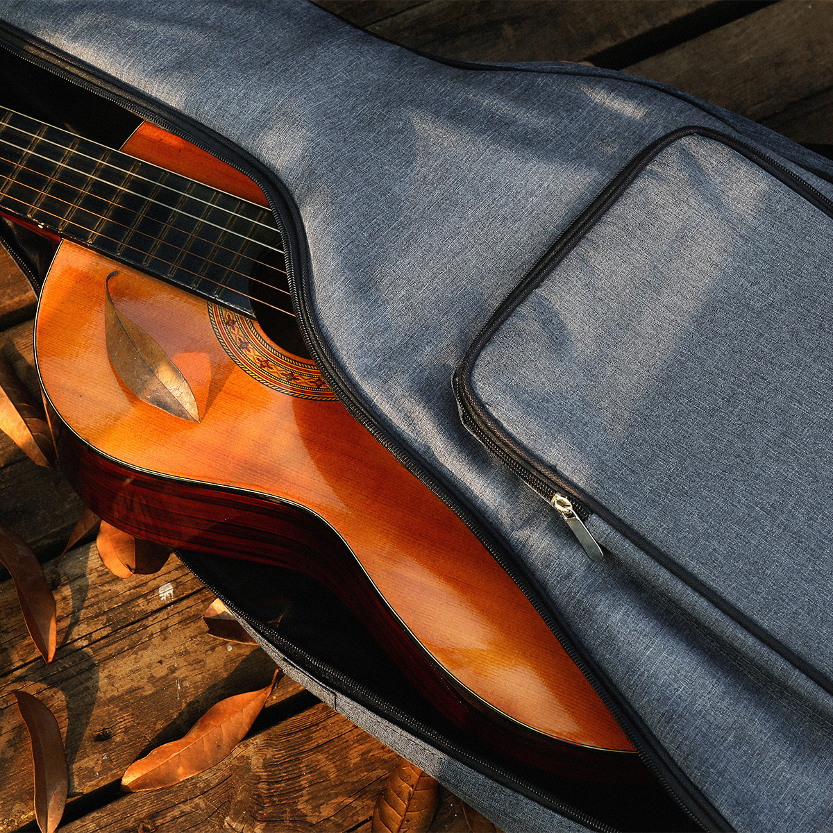 Double shoulders guitar bag, 41/40 inch wooden guitar, classical folk piano bag, character student with waterproof shock proof