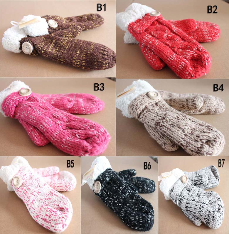 All that half that in autumn and winter with thick female Korean tide winter students ride lovely knitting gloves