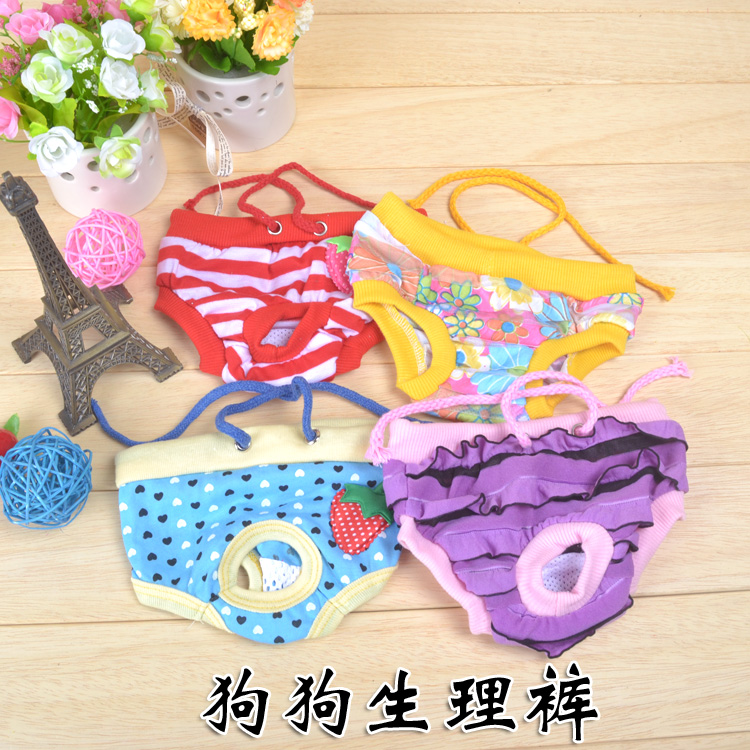 Physiological pants pet dog Teddy underwear menstrual bitch contraceptive safety pants summer dog aunt pants
