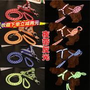 The dog leash dog dog dog rope chain chain of small and medium-sized cat collar Tactic golden puppy dog supplies