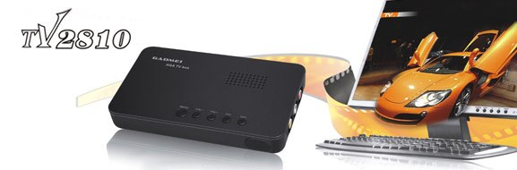XGA series TV box, Gadmei TV2810 outdoor TV box, speaker free from host, watch TV