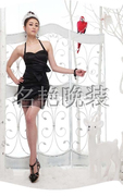Japan and South Korea sister hanging neck dress evening dress female short new bride wedding dinner B316