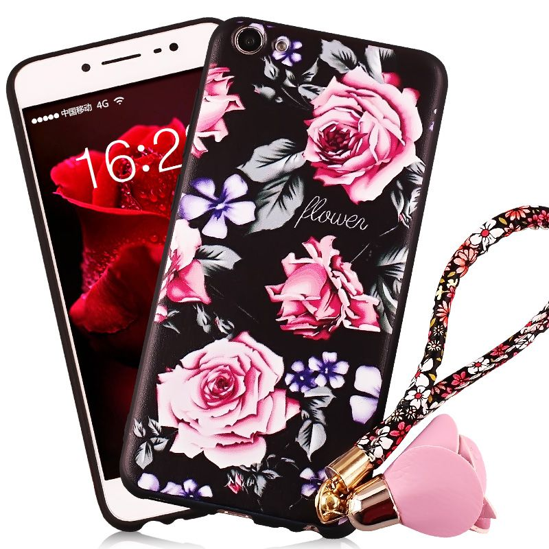 BBK vivoy67 mobile phone shell y67l China wind protective sleeve painted relief creative soft silicone shell female