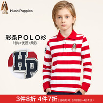 Hush Puppies childrens wear fall winter boys POLO shirt in the new childrens t-shirt t shirt childrens long sleeve shirt