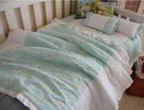 (Korea made-to-measure) H107 fresh mint duck patterned cotton baby bedding