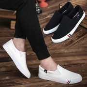 In the summer of 2017 new men's canvas shoes, men's shoes trend of Korean low pedal lazy casual shoes tide