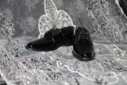 Soom hero ID72 uncle pointed black lace up shoes