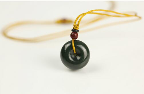 Is coming to an end a dollar auction hetian jade ink sapphire peace clasp pendant accessories