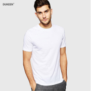 2 pieces of summer pure cotton t-shirt t-shirt solid white half sleeve men's shirt men short sleeved t-shirt men