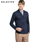 SELECTED thread cotton knit cardigan F416124009 hollow men