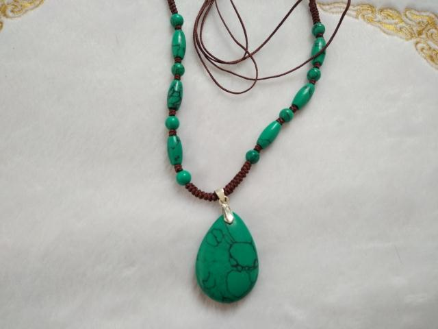 One yuan from the auction of natural turquoise water Pendant