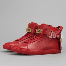 Spot Italy Buscemi 100mm Flat WMNS W1007SP14-RED Red casual shoes for men and women