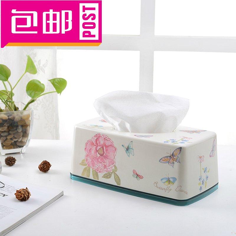 欧美正品纸巾盒韩国花式创意家居客厅厨房收纳盒抽纸盒男女包邮