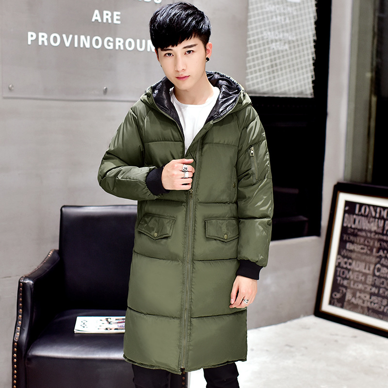 Winter in new men's Hoodie plus size long coat jacket padded warm men and fertilizers increased cotton 200 kg
