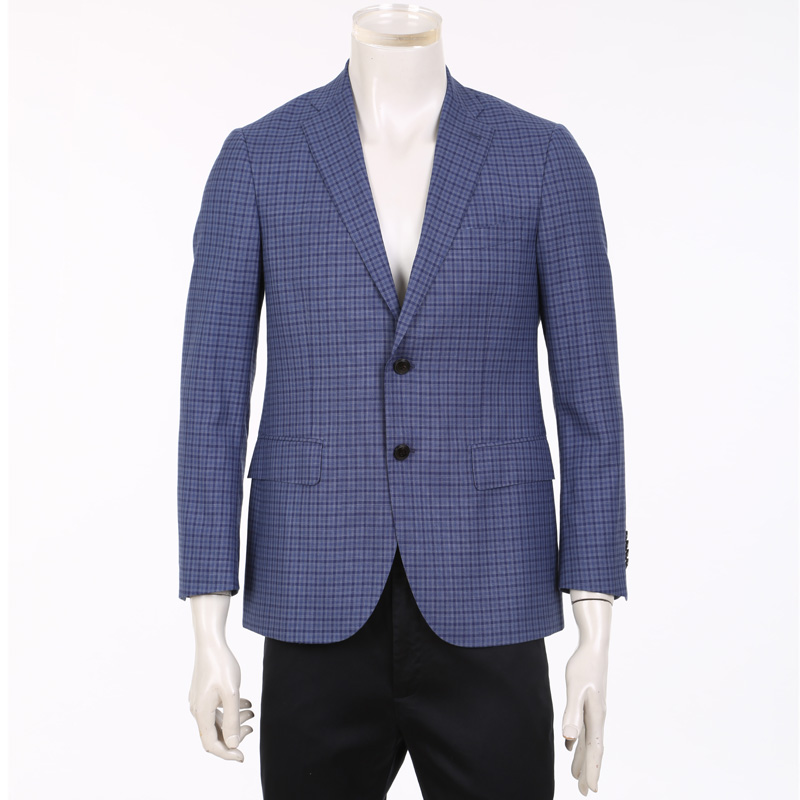 Goldlion thin single suit new spring men's business casual plaid jacket MZD16111010-65