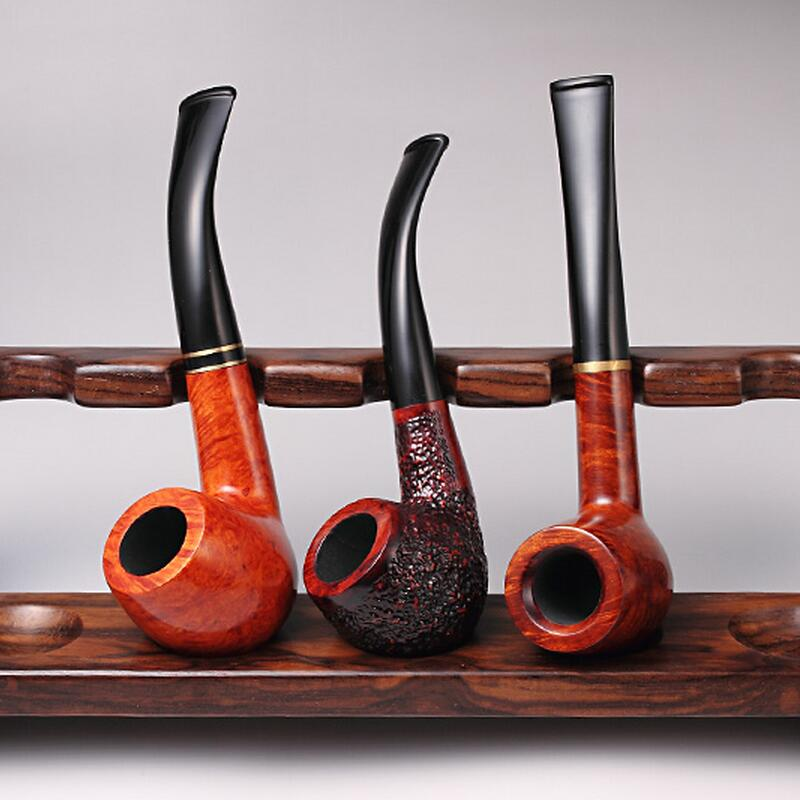 Tobacco use men solid wood ebony pipe filter pipe, 518