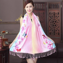 SI Chan recalls fall winter dress shawl scarves women dual-use winter wild tassel brush thicken high-end fashion capes