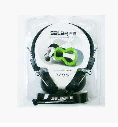Salar/salar V85 wearing earmuff-style stereo PC headset headset for external microphone