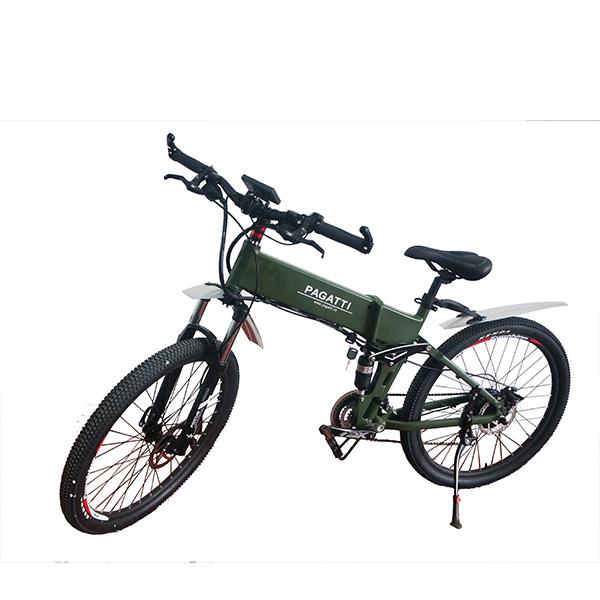流行悍马26寸助力电动山地车折叠电动自行车出口锂电池代步电瓶车
