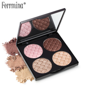 For Europe earth color palette Eyeshadow Meena box nude make-up makeup palette four beginners Pink Pearl silkworm pen