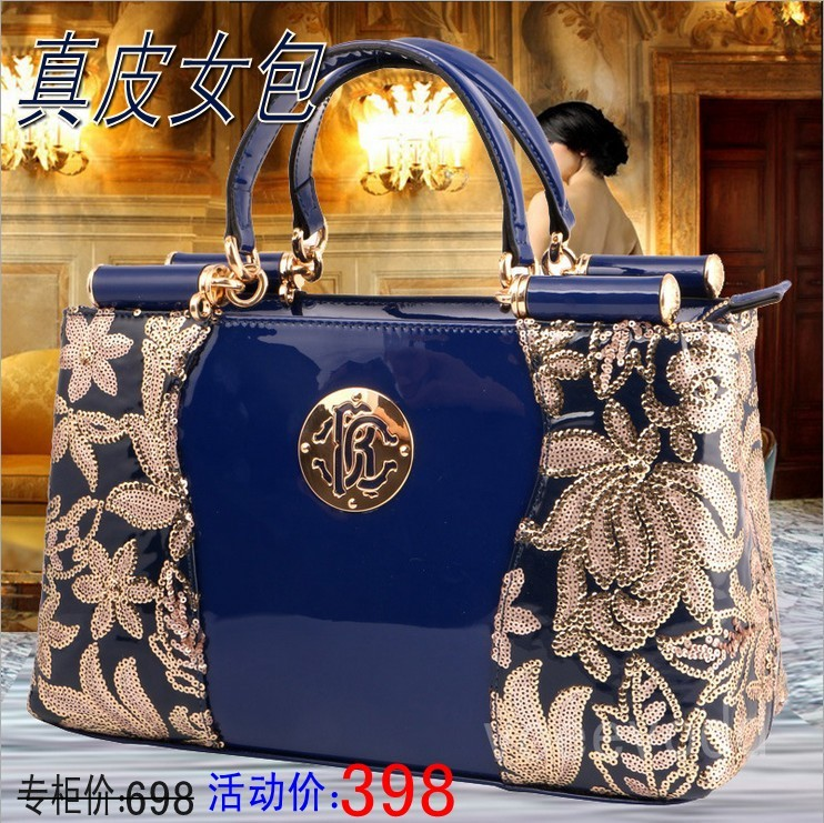 Poly socialite autumn new 2015 branded bags leather handbags leather large packages in Europe and leather ladies handbag