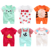 Baby clothes in summer cotton thin 6 female newborn male baby romper 0 short sleeved summer 3 months
