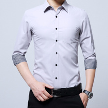 Mature men's, middle aged men's, business casual shirts, men's formal long sleeve shirts, pockets, office workers