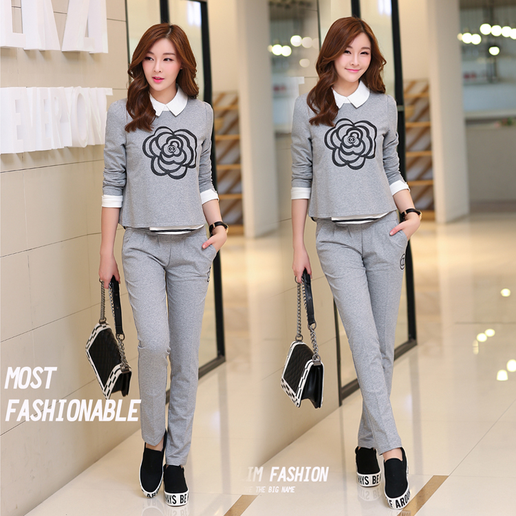 Early autumn 2015 stylish new Korean fashion slim slimming suit women's casual women two piece