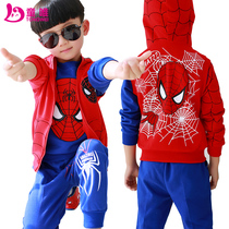 Boys  spring gift set 8 4 Spider-man 5 years with 7 childrens wear clothing children sweater 6 9 children 11 years of age