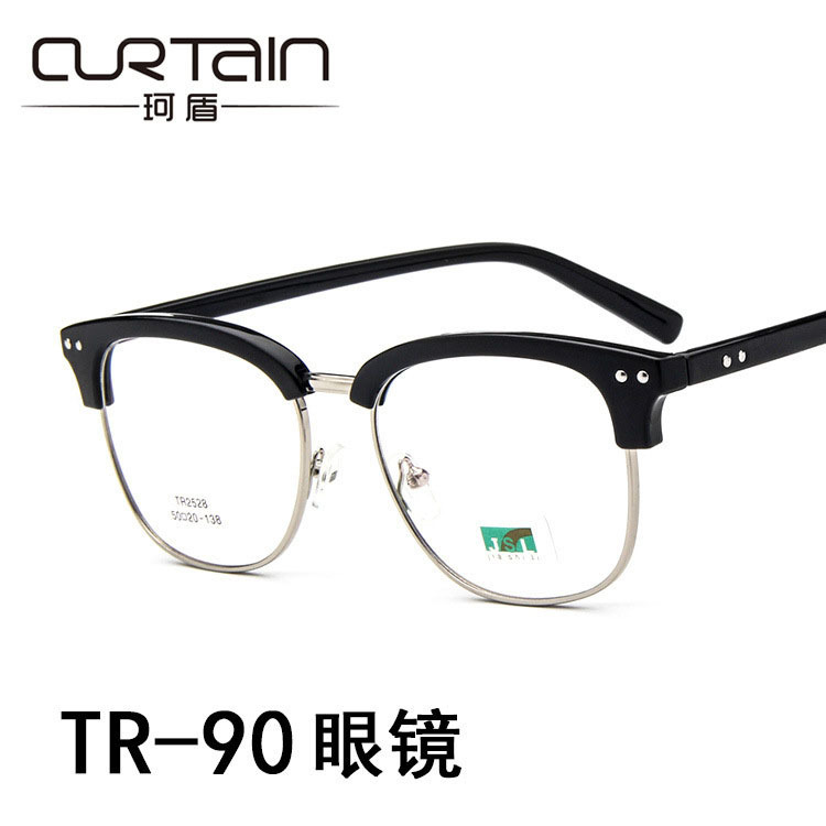The new ultra light meter nail TR90 glasses frame fashion with myopia mirror frame of flat mirror frames of 2528 students