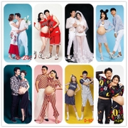 2017 studio maternity photography photo theme personalized clothing couples dress according to the portrait of pregnant women