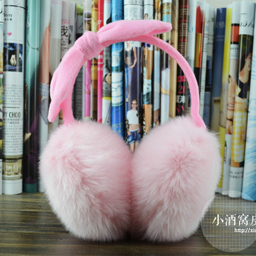 Ms winter new earmuffs adult children changed rabbit ear ear warm South Korea parent-child lovely package earrings earmuffs