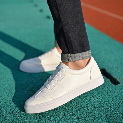 In the spring of 2017 new men's shoes sports shoes trend of Korean white shoe flat white Metrosexual shoes