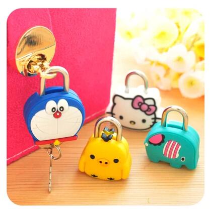 Hello Kitty密码锁迷你创意卡通锁私密笔记本挂锁抽屉锁行李箱锁