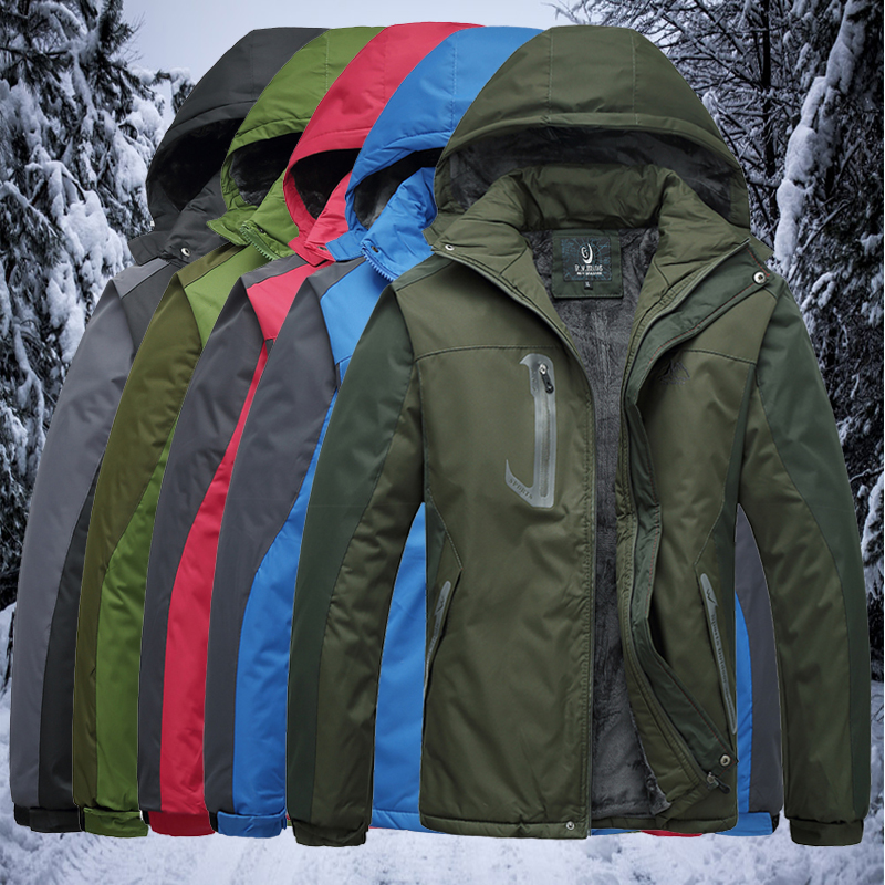 Outdoor winter clothing, men's clothing, add thick and warm clothes to increase the size of the men's clothing to increase the size of the outdoor clothing