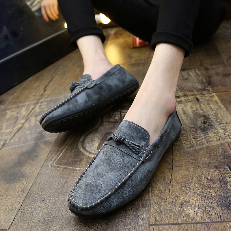 Adolescent acne shoes shoes Doug Korean autumn shoes shoes shoes grey autumn tease lazy casual shoes tide